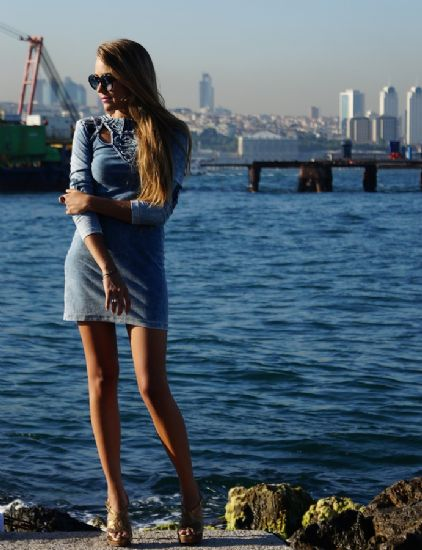 Denim Jean Dress..