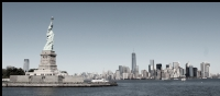 Liberty Island & Manhattan