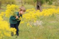Bahar Çiçek Ve Çocuk