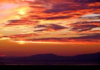 İzmir Körfezinde Gün Batımı Sonrası Gökyüzü