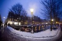 Amsterdam'da  Kış Akşamı