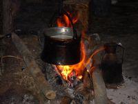 Açık Ateşte Keci Sütü