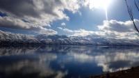 Hazar Gölünde Bulutlar