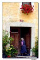 Çiçekli Ev Ve Sahibesi