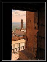 Zinciriyeden  Penceresinden Ulu Camii Minaresi