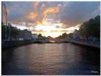 Dublin Harbour'da Gün Batımı