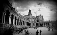 Plaza De Espana, Sevilla, İspanya