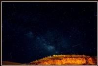 Samanyolu Ve Kayan Bir Yıldız Ya Da Meteor