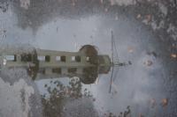 Su Birikintisinde Yansıyan Paraşüt Kulesi (izmir)