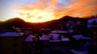 Kış Sabahı Gün Doğarken