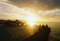 İzmirde Günbatımı