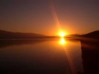 Hazar Gölünde Gün Batımı