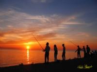 Gün Batımında Balık Avı