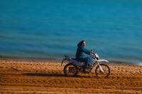 Sahildeki Motorsikletçi