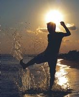 Yaz,deniz,su,damla,siluet