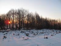 Karda Günbatımı