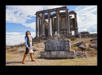 Temple Of Zeus And Girl