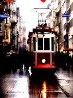 Yağmurlu Bir İstiklal Caddesi