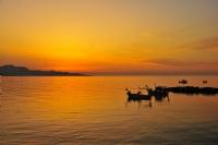 Fatsa Balıkçıları Ve Akşam Güneşi