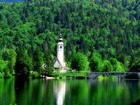 Slovenya, Ribçev Laz Civarı Bohinj Gölü